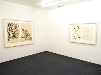 """Georg Baselitz - Hokusai, Remixe, ein Indianergrab und """"Bald ist diese Zeit vorbei""""?, installation view"""