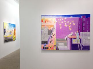 New Works and the Avenue A Cut-Out Theatre, installation view