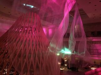"""""""Liminal Air Fluctuation - existence""""   by Shinji Ohmaki in Paris, installation view"""