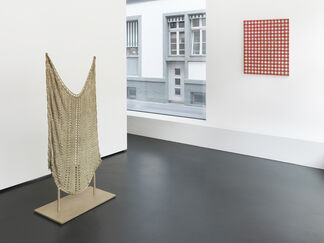 Paintings and sculptures, installation view