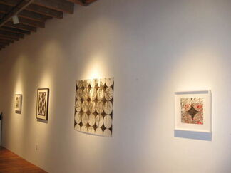 Katina Huston, First Cut: Original Drawings & Antique Japanese Textile Stencils, installation view