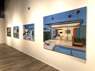 Mid-Century Perspectives: Paintings by Andy Burgess and Objects of Modern Design, presented by the Tucson Museum of Art, installation view