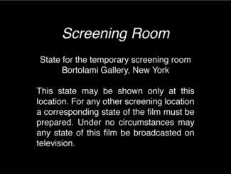Morgan Fisher: Screening Room, installation view