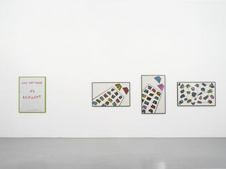 Signs and Messages II: Fiona Banner, Alistair Frost, Marc Hundley, Kay Rosen, Neil Rumming, Stephen Willats, installation view