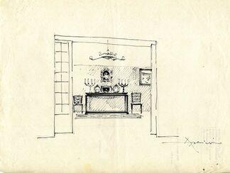 "The ""exhibited"" house PIETRO ASCHIERI (1889-1952), installation view"