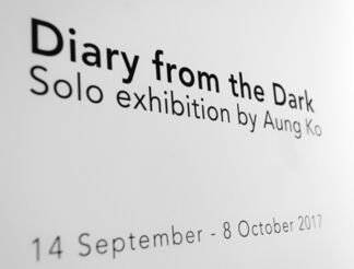 Diary from the Dark by Aung Ko, installation view