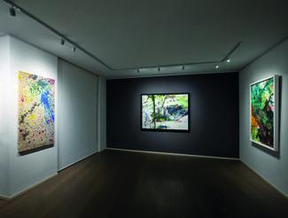 Shōzō Shimamoto. Recent Works, installation view