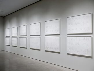 """Bruce Nauman """"Some Illusions: Drawings and Videos"""", installation view"""