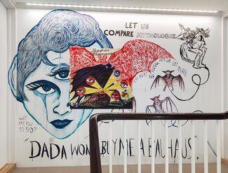 Marcel Dzama and Raymond Pettibon: Let us compare mythologies, installation view