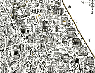 Stephen Walter - Map of Mayfair & St James's, installation view