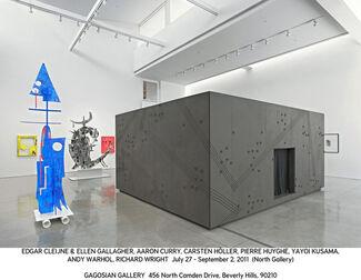 Cleijne + Gallagher, Curry, Höller, Huyghe, Kusama, Warhol, Wright, installation view