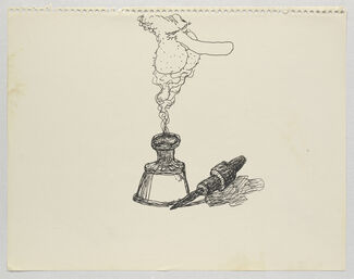 Philip Guston: Laughter in the Dark, Drawings from 1971 & 1975, installation view