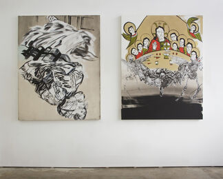 "Christiane Lyons ""What Goes Around Comes Around"", installation view"