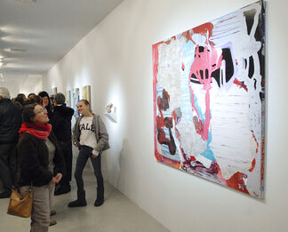 """Zachary Keeting &  Anahita Vossoughi """"Rockless Volume"""" with works by Loren Myhre, installation view"""
