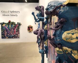 Alison Stinely's Gilded Splinters, installation view