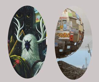 "Jeff Soto ""Nightgardens"" | Masakatsu Sashie ""Blind Box"", installation view"