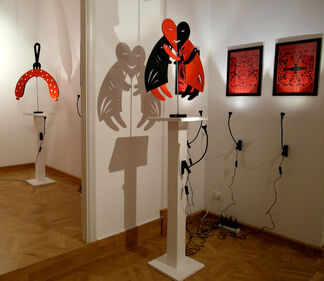 IN THE FOOTSTEPS OF THE HYPER-HUMAN', installation view