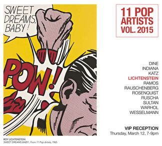 11 Pop Artists Vol. 2015, installation view