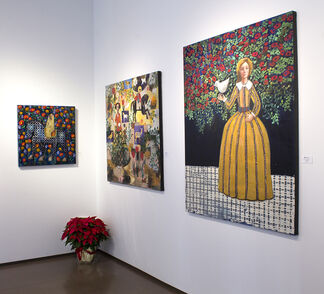 Paintings by Rimi Yang, installation view