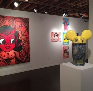 """""""Butting Heads"""" by Michael Sarich, installation view"""