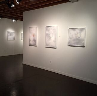 """""""Constructive Interference"""" by Stuart Allen and """"Pattern, Shape, Color"""" by Richard Martinez, installation view"""