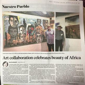 Gustavo Duque New Paintings inspired during travels through Africa in 2018., installation view