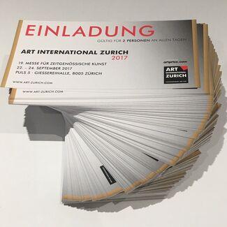 Art International Zurich 2017, installation view