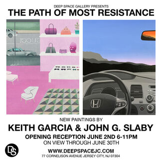 THE PATH OF MOST RESISTANCE New Paintings by John G. Slaby & Keith Garcia, installation view
