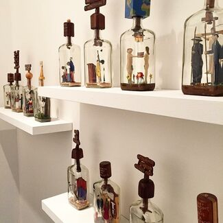 Steve Moseley Patience Bottles, installation view