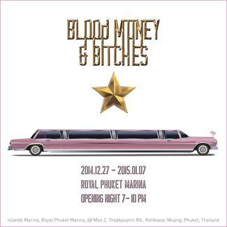 """Blood-Money & Bitches"" 血迹、钱和妓女, installation view"