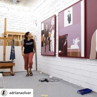 """LINEAGE"" Featuring MATT DEVINE, ANTHONY HUNTER, ADRIANA OLIVER - New York, installation view"