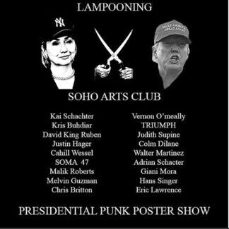 PRESIDENT PUNK POSTER PARTY, installation view