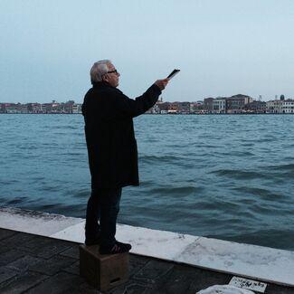 Saâdane Afif, The Laguna's Tribute (A Corner Speaker in Venice), installation view