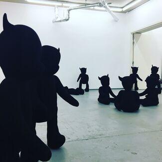 Permindar Kaur Black and Blue, installation view