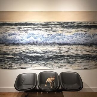 Pastels Become Water: New Work by Zaria Forman, installation view