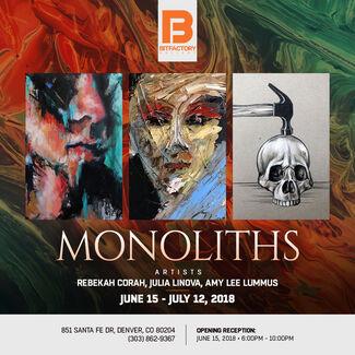 Monoliths, installation view