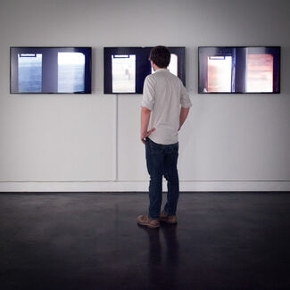 Simon Lee   Eve Sussman: A Side Window, installation view