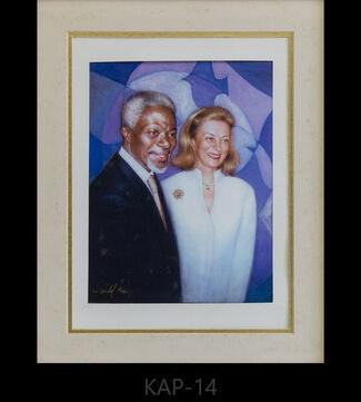Portrait of Kofi Annan, installation view