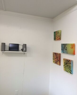 """""""WAVELENGTHS: A POETIC SYNTHESIS OF SOUND AND ART"""" Matt Corrado, installation view"""