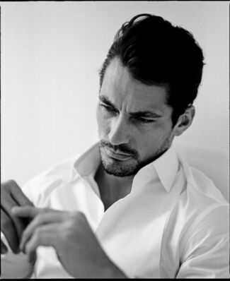 White Shirts featuring David Gandy by portrait photographer Alistair Guy, installation view