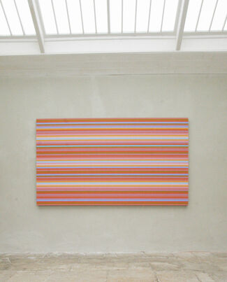 Bridget Riley: a new painting in the orangery, installation view