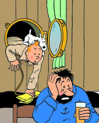 Hergé, installation view