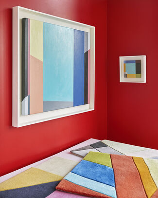 Judith Seligson Art Rug Collection, installation view