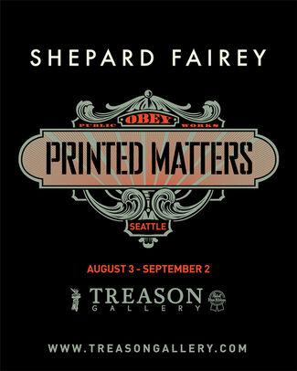 Shepard Fairey   Printed Matters, installation view