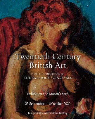 Twentieth Century British Art from the collection of the late John Constable -  A collaboration with Harry Moore Gwyn Fine Art, installation view