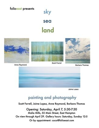 Sky, Sea, Land; Painting and Photography, installation view
