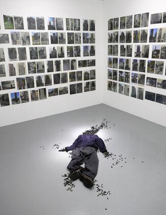 "Kota Takeuchi ""Photographs turn stone monuments into mere stone, but even so people take them."", installation view"