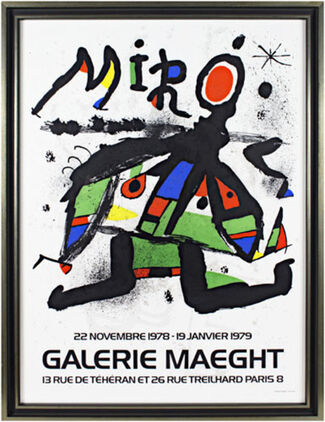 Original Color Lithographs and Posters by Joan Miró, installation view