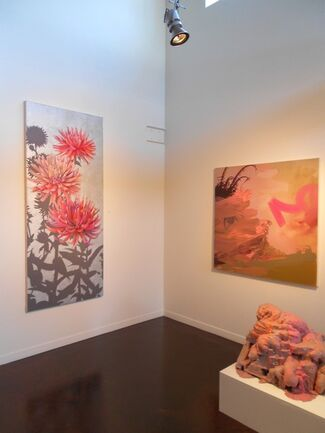 """""""Women Under the Influence: Conversations in Paint with Mary Warner, Jane Callister, and Wendy Kveck"""", installation view"""
