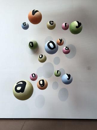 "Nancy Dwyer - ""What?"", installation view"
